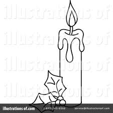 christmas candle clipart 1068735 illustration by rosie piter
