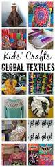 global textiles for kids paired with colorful multicultural crafts