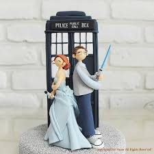 doctor who wedding cake topper custom cake topper doctor who wars combined theme
