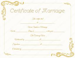 13 best images of blank printable marriage certificate template