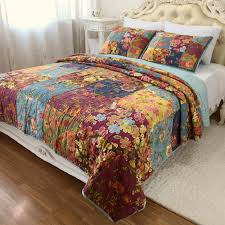 king size coverlets and quilts chausub vintage patchwork quilt set 3pcs washed cotton quilts