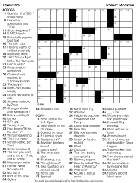 beekeeper crosswords blog archive puzzle 123 u201ctake care u201d
