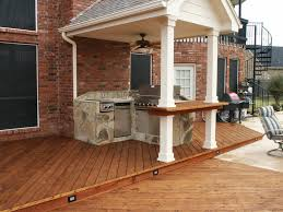 summer kitchen ideas kitchen stylish deck with brick wall also small summer kitchen