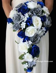wedding flowers blue royal blue and silver wedding bridal bouquet with baby s breath