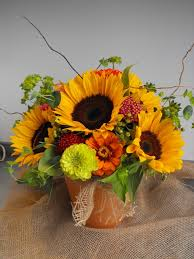 sunflower centerpiece summer inspired sunflower centerpiece a in bloom event