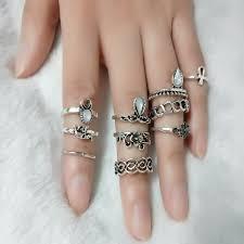 midi ring set 10pc set boho carved finger midi ring faheems co