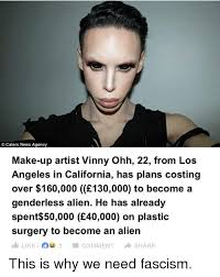 Make A Meme Aliens - caters news agency make up artist vinny ohh 22 from los angeles in