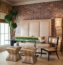 50 bold and inventive dining rooms with brick walls exquisite contemporary dining room dazzles with custom banquette decor and a pinch of greenery