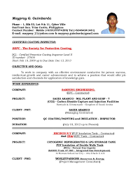 Resume Sample Engineer by Resume Format For Qc Engineer Resume Format