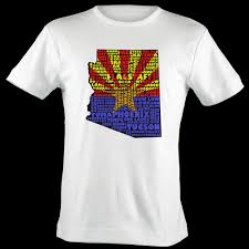 Az State Flag Arizona Flag Shirt Map Art Arizona Typography Map T Shirt