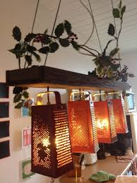 diy kitchen lighting ideas suspended l made out of recycled graters grater diy kitchen