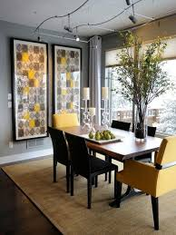 contemporary dining room with flush light u0026 hardwood floors