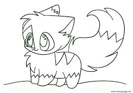 kawaii chibi cat coloring pages printable