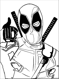 stunning deadpool coloring pages printable images best printable