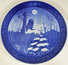 royal copenhagen plate winter twilight 1974