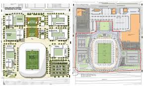 retail space floor plans new st paul soccer stadium plan has less green space