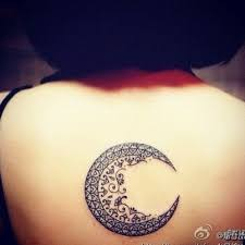 moon back tattoos moon and