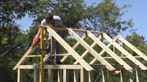 build a garden shed roof framing youtube