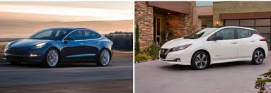 new nissan leaf tesla model 3 vs 2018 nissan leaf a side by side comparison
