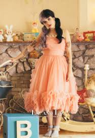 melanie martinez peach cocktail party homecoming prom dress pity