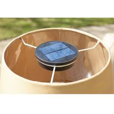 outdoor patio table lights the solar powered patio table l hammacher schlemmer