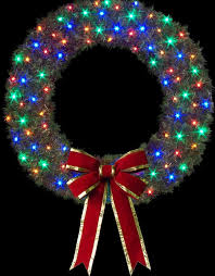 cascade building front wreaths with c 7 led lamps