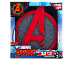 catch com au 3d marvel avengers shield wall light red