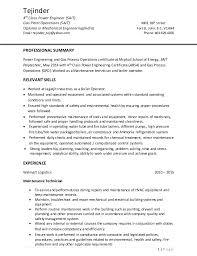 power engineer sle resume 11 electrical engineering editable