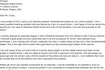 cover letter for a teaching assistant job teacher cover letters