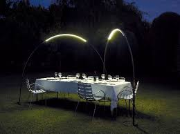ambient outdoor led lighting inspired by halley s comet