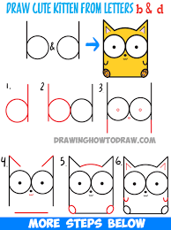 learn how to draw two bears in love from the letter x easy step