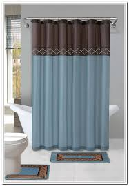 Teal And Brown Shower Curtain Brown Blue Shower Curtain Curtain Curtain Image Gallery