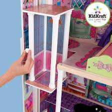 Barbie Dolls House Furniture Amazon Com Kidkraft My Dreamy Dollhouse With Furniture Toys U0026 Games