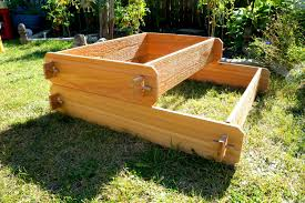 Herb Garden Planters by Raised Garden Bed 2 Tier Cedar Raised Planters Raised Beds