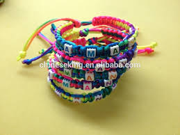 woven bracelet with beads images Alphabet initial letter beads hand woven bracelet diy letter beads jpg