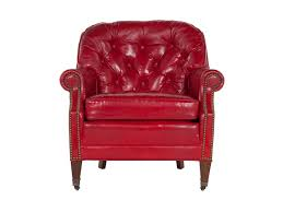 Red Club Chair Surprising Red Leather Club Chair On Home Decor Ideas With