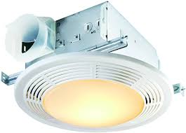nutone 8664rp designer fan and light with round white grille and