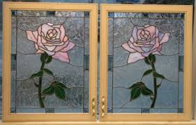 Rose Cabinets Residential Bissett Stained Glass