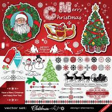 New Year Decoration Vector by Christmas And New Year Decorations Vector Set Creative Victorian