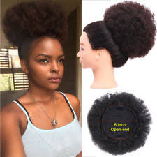 small afro puff buns hair pieces drawstring bun curly hair extensions ebay