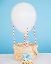 hot air balloon decorations hot air balloon basket party favor martha stewart