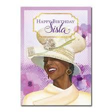 happy birthday sista african american birthday card 7x5 inches