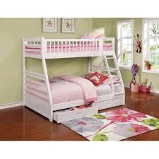 ashton white twin full bunk bed with storage drawers 460180