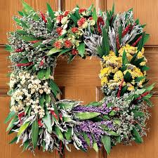 herb wreath square mixed herb wreath williams sonoma