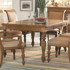 Carved Dining Table And Chairs Island Inspired Rectangular Turned Leg Dining Table With Carving