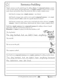 collection of solutions complex sentences worksheets year 5 on