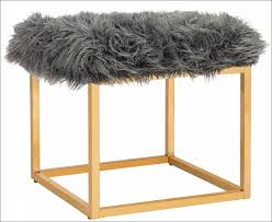 furniture marvelous tufted ottoman coffee table fur covered