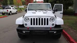 jeep white wrangler 2016 jeep wrangler unlimited sahara white gl100199 redmond