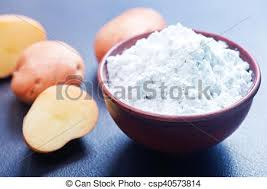 potato starch potato starch in bowl and on a table stock photography search