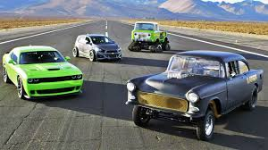 jeep hellcat custom sema drag race hellcat vs blasphemi vs jeep fc vs sonic 2014